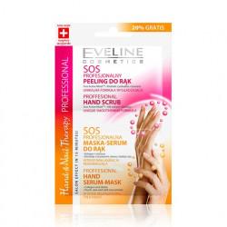 Eveline Hand & Nail Therapy Professional - SOS profesjonalny peeling i maska do rąk, poj. 2 x 6 ml