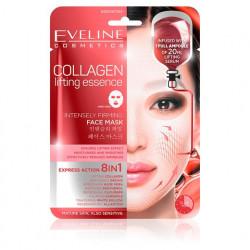Eveline Collagen - silnie liftingująca koreańska maska na tkaninie do twarzy z kolagenem 8w1, 1 szt.