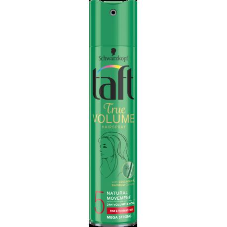 Taft True Volume - mega mocny lakier do każdego typu włosów (mega strong), poj. 250 ml