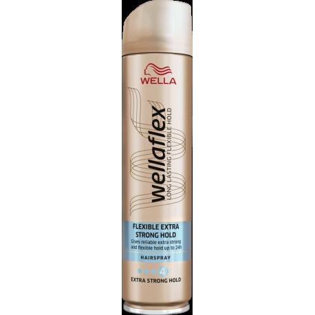 Wella Wellaflex Flexible Extra Strong - ekstramocny lakier do włosów 4/5, poj. 250 ml