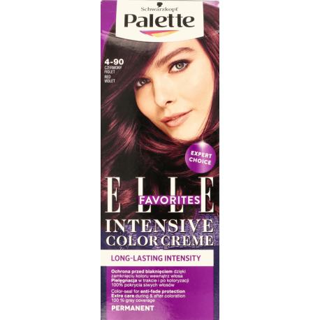 Palette Intensive Color Creme Elle Favorites - farba do włosów, kolor 4-90 Czerwony Fiolet