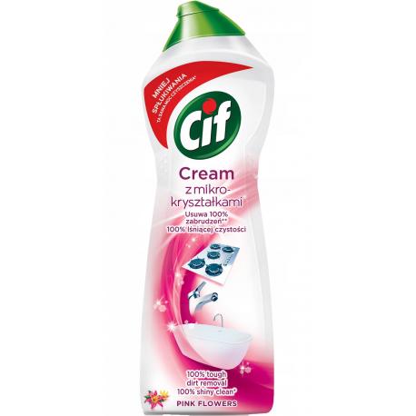 Cif - Cream, mleczko do czyszczenia z mikrokryształkami, Pink Flowers, masa netto: 780g