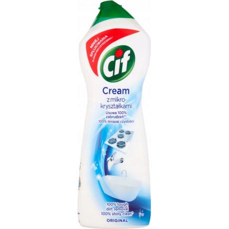 Cif - Cream, mleczko do czyszczenia z mikrokryształkami, Original, masa netto: 780g