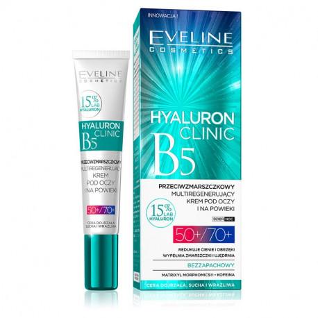 Eveline Hyaluron Clinic - przeciwzmarszczkowy multiregenerujący krem pod oczy i na powieki 50+/70+, poj. 20 ml
