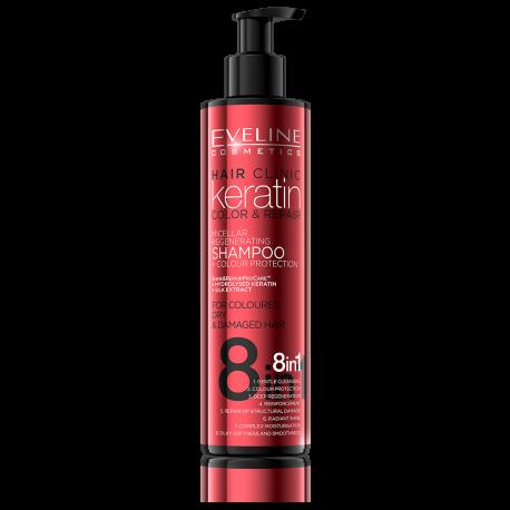 Eveline Hair Clinic Keratin Color & Repair - szampon regenerujący do włosów farbowanych, poj. 245 ml