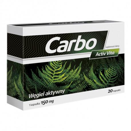 Carbo Activ Vita - kapsułki twarde, suplement diety, 20 szt.