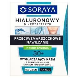 Hialuronowy mikrozastrzyk - wygładzający krem na dzień i na noc 30+, poj. 50 ml.