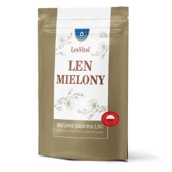 Oleofarm LenVitol – len mielony, mielone nasiona lnu uzyskane w procesie odtłuszczania, masa netto: 450g