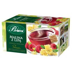 Bi fix Premium Malina z lipą - herbatka owocowa ekspresowa, poj. 20 saszetek x 2g