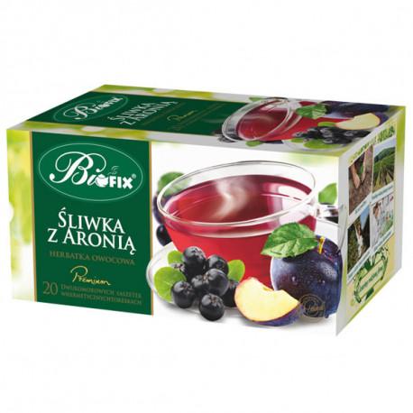 Bi fix Premium Śliwka z Aronią - herbatka owocowa ekspresowa, poj. 20 saszetek x 2g