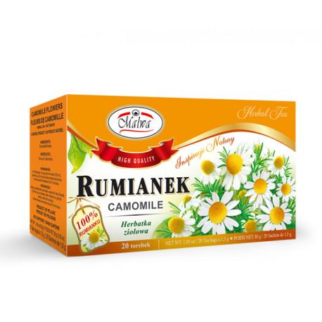 Malwa - Rumianek, herbatka ziołowa, 20 torebek x 1,5g