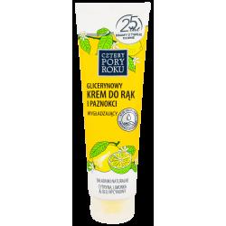 Cztery Pory Roku - glicerynowy krem do rąk i paznokci, wygładzający, cytryna i limonka, poj. 130 ml