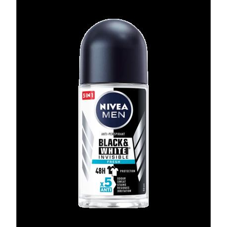 Nivea Men Black & White Invisible FRESH - antyperspirant w kulce dla mężczyzn, poj. 50 ml