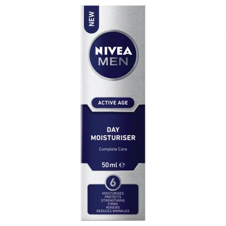 Nivea Men Active Age - Day Moisturiser Complete Care, nawilżający krem do twarzy na dzień, poj. 50 ml