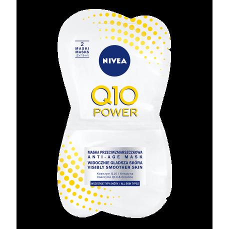 NIVEA Q10 POWER - maska przeciwzmarszczkowa w saszetce, 2 x 7,5 ml