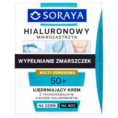 Hialuronowy mikrozastrzyk - ujędrniający krem na dzień i na noc 50+, poj. 50 ml.
