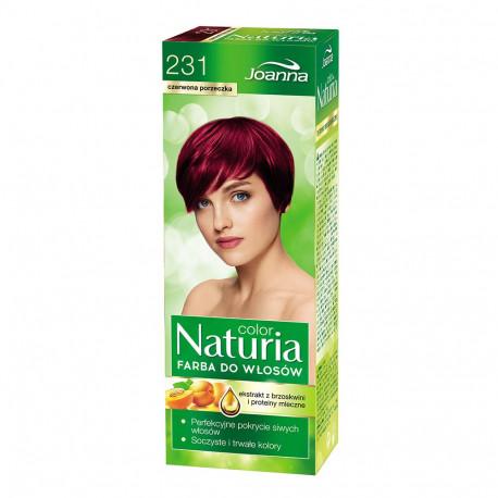 Joanna Naturia Color - farba do włosów, 231 - czerwona porzeczka