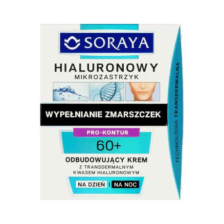 Hialuronowy mikrozastrzyk - odbudowujący krem na dzień i na noc 60+, poj. 50 ml.