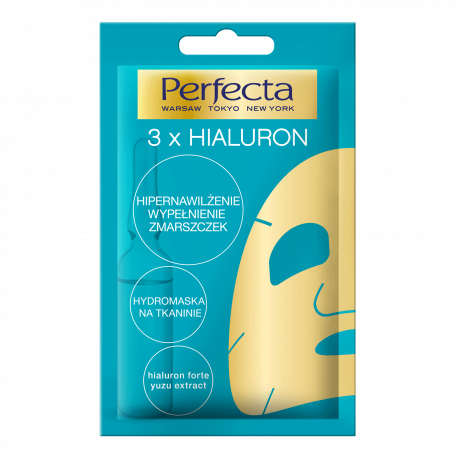 Perfecta - hydro-maska na tkaninie 3 x HIALURON, poj. 20 ml