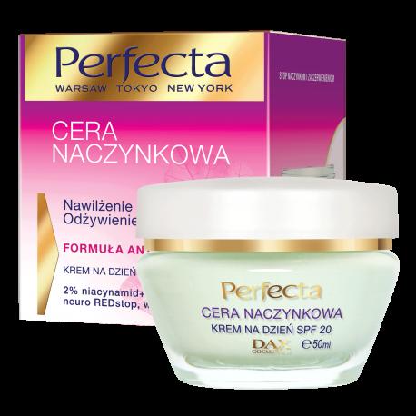 Perfecta Cera Naczynkowa – krem na dzień SPF20, nawilżenie i odżywienie, poj. 50 ml