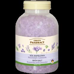 Green Pharmacy - sól do kąpieli, rozmaryn i lawenda, masa netto: 1300 g
