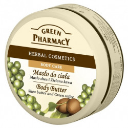 Green Pharmacy - masło do ciała, masło shea i zielona kawa, poj. 200 ml