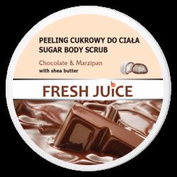 Fresh Juice - peeling cukrowy do ciała, chocolate & marzipan, poj. 225 ml