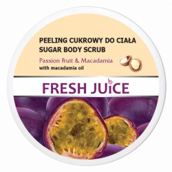 Fresh Juice - peeling cukrowy do ciała, passion fruit & macadamia, poj. 225 ml