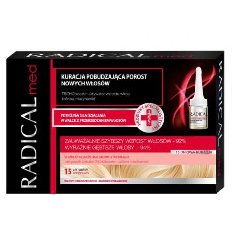 Radical Med - kuracja pobudzająca porost nowych włosów, pój. 15 ampułek x 5 ml