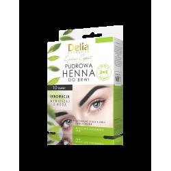 Delia Eyebrow Expert - pudrowa henna do brwi, 1.0 czarny, poj. 4 g