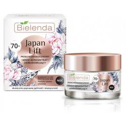 Bielenda JAPAN LIFT - odbudowujący krem koncentrat przeciwzmarszczkowy 70+, na noc, poj. 50 ml