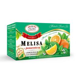 Malwa - melisa z pomarańczą, herbatka ziołowo-owocowa, poj. 20 torebek x 2 g