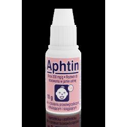 Aphtin - roztwór do stosowania w jamie ustnej, masa netto: 10 g