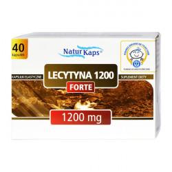 Lecytyna 1200 forte Naturkaps - kapsułki elastyczne, suplement diety, 40 szt.