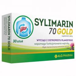 Sylimarin 70 GOLD - suplement diety wspierający funkcjonowanie wątroby, zawartość: 30 tabletek powlekanych