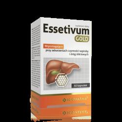Essetivum Gold - suplement diety, kapsułki na zaburzenia czynności wątroby i żółciowych, 50 szt.
