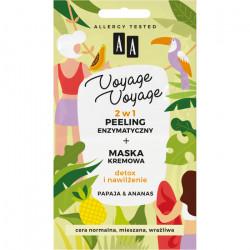 AA VOYAGE & VOYAGE - 2w1 peeling enzymatyczny+maska kremowa, papaja & ananas, poj. 2x5 ml