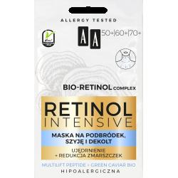 AA Retinol Intensive - maska na podbródek, szyję i dekolt 50+/60+/70+, poj. 2x5 ml