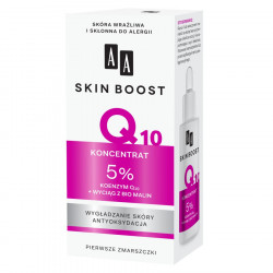 AA Skin Boost Q10 - koncentrat 5% koenzym Q10 + wyciąg z bio malin, poj. 30 ml