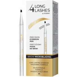 Long4Lashes Brow Microblading - precyzyjny pisak do brwi nr 01 Medium Brown, poj. 1,1 ml