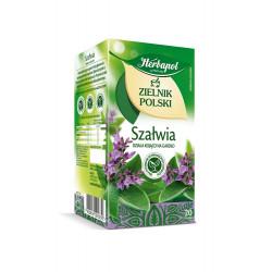 Zielnik Polski - Szałwia, herbatka ziołowa, 24 g (20 torebek x 1,2 g)
