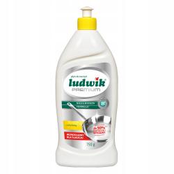 Ludwik - płyn do ręcznego mycia naczyń PREMIUM cytrynowy, masa netto: 750 g