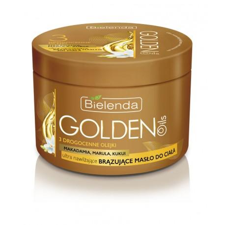 GOLDEN OILS - ultra nawilżające brązujące masło do ciała z drogocennymi olejkami, poj. 200 ml.