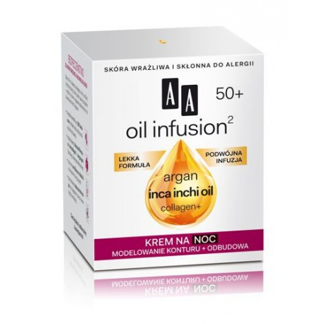 OIL INFUSION2 50+. Krem na noc, poj. 50 ml.