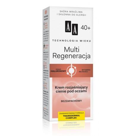 Technologia Wieku 40+ Multi Regeneracja - krem rozjaśniający cienie pod oczami, poj. 15 ml.