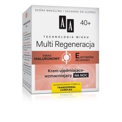 Technologia Wieku 40+ Multi Regeneracja - krem ujędrniająco-wzmacniający na noc, poj. 50 ml.