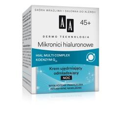 DERMO TECHNOLOGIA Mikronici hialuronowe 45+. Krem ujędrniający odmładzający na noc, poj. 50 ml.