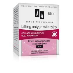 DERMO TECHNOLOGIA Lifting antygrawitacyjny 65+. Krem odbudowujący regenerujący na noc, poj. 50 ml.
